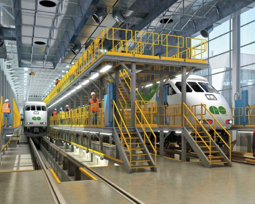 TNR Doors Supplies Whitby Metrolinx Maintenance Facility with High-Performance Doors