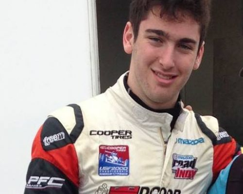 Canadian Porsche GT3 Cup driver, Jesse Lazare, sponsored by TNR Doors